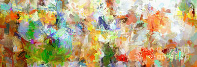 Abstract Collage Panorama Poster