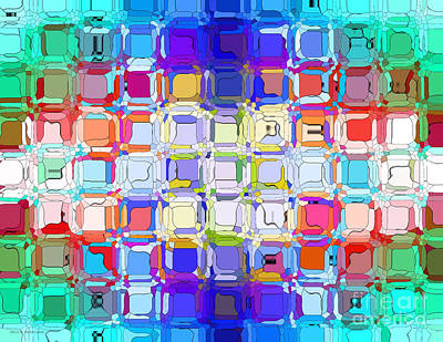 Poster featuring the digital art Abstract Color Blocks by Anita Lewis