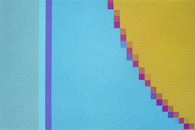 Abstract Computer Graphic Pattern Showing Pixels Poster