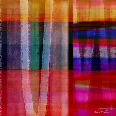 Abstract Cross Lines I Poster
