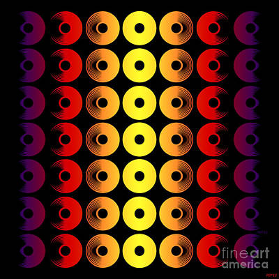 Abstract Discs Of Pottery Poster
