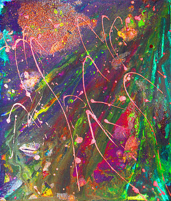 Abstract Fairy Night Lights Poster