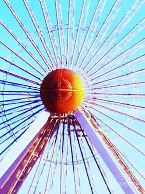 Abstract Ferris Wheel Poster