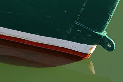 Abstract Fishing Boat Bow Poster