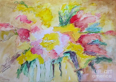 Poster featuring the painting Abstract Floral by Barbara Anna Knauf