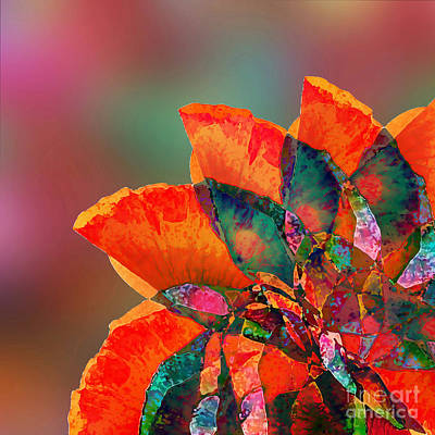 Abstract Flower Poster by Klara Acel