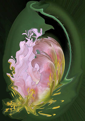 Abstract Flowers, Digitally Manipulated Poster by Jaynes Gallery
