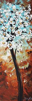 Abstract Flowers Poster by Jolina Anthony