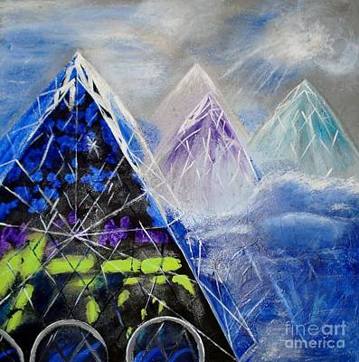 Abstract Glass Mountain Poster