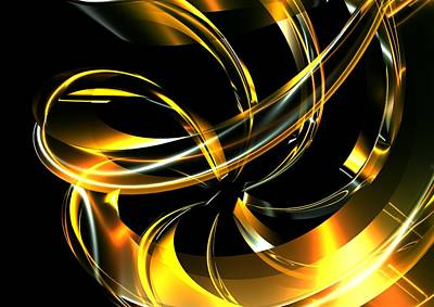 Abstract Glass Ribbon Poster by Louis Ferreira