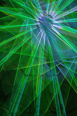 Abstract Green Lights Poster