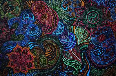 Abstract Henna Design Poster by Cathryn Jenner