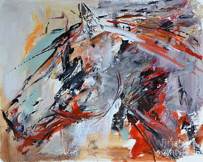 Abstract Horse 1 Poster