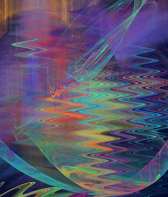 Abstract In Blue And Purple Poster by Jane McIlroy