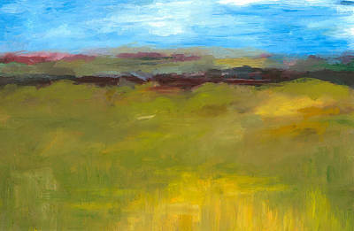 Abstract Landscape - The Highway Series Poster by Michelle Calkins