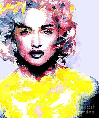 Abstract Madonna Poster