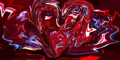 Abstract Melting Heart Poster by Viola Holmgren