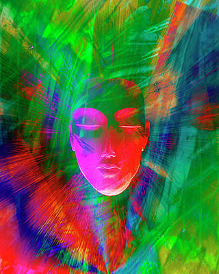 Abstract Of Meditating Human Face Poster by Jaynes Gallery