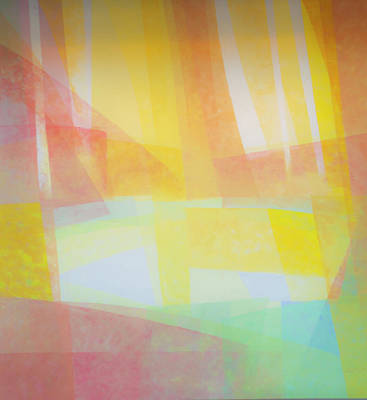 Abstract Of Pastel Colors Poster by Sheila Haddad