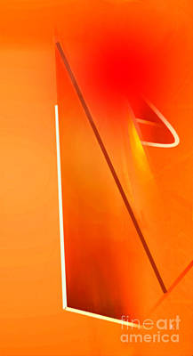 Abstract Orange Poster