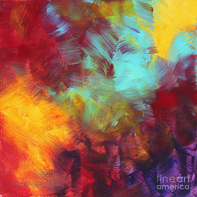 Abstract Original Painting Colorful Vivid Art Colors Of Glory II By Megan Duncanson Poster by Megan Duncanson