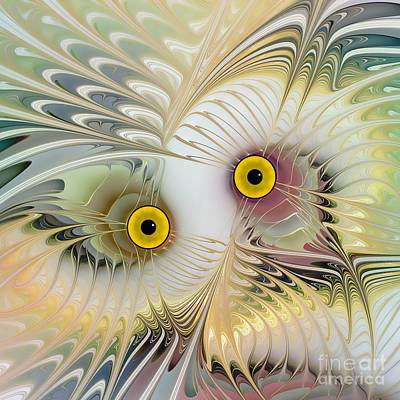 Abstract Owl Poster by Klara Acel