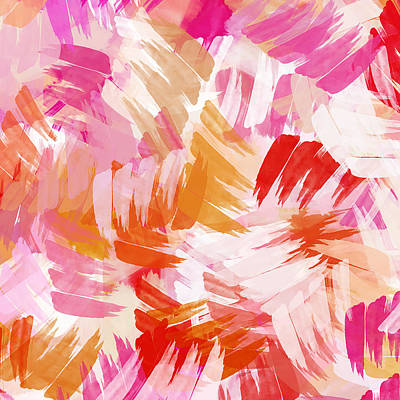 Abstract Paint Pattern Poster