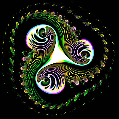 Abstract Patterns Artwork Poster by Mehau Kulyk