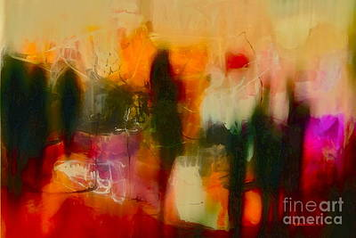 Poster featuring the photograph Abstract People by Danica Radman