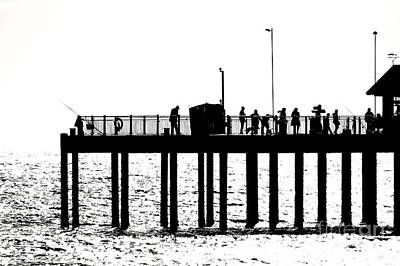 Abstract Pier Poster by David Warrington