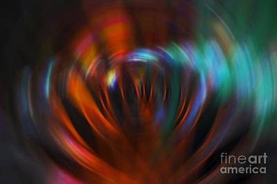 Abstract Red And Green Blur Poster by Marvin Spates