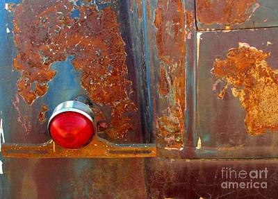 Abstract Rust Poster by Marilyn Smith