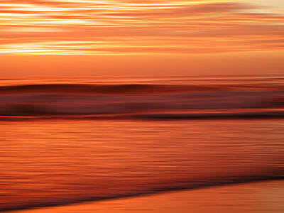 Abstract Seascape At Sunset Poster