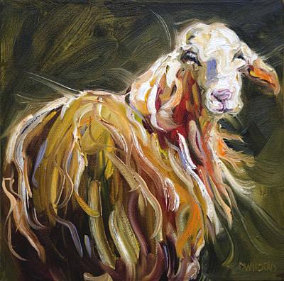Abstract Sheep Poster