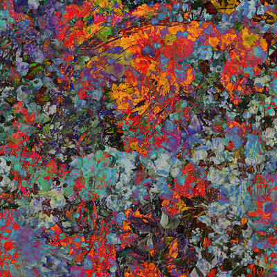 Poster featuring the mixed media Abstract Spring by Ally  White