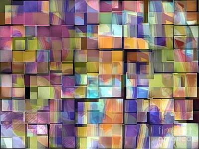 Abstract  Squares Poster
