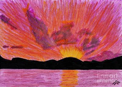 Abstract - Sunset Poster by D Hackett