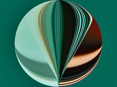 Abstract - Teal - Aqua - Seven Poster by Kathy K McClellan