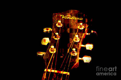 Abstract - Ventura Highway - Guitar - Musician Poster by Andee Design