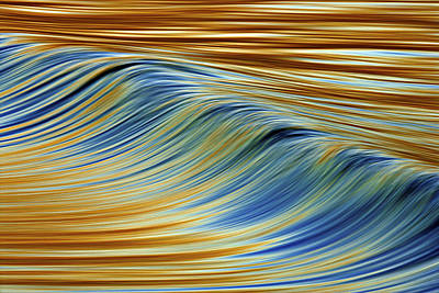Poster featuring the photograph Abstract Wave C6j7857 by David Orias