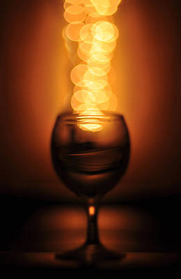 Abstract Wine Glass Poster by Abdul  Rahman