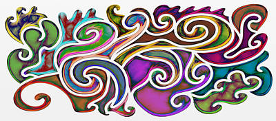 Abstract With Filter Effect Poster by Gina Lee Manley