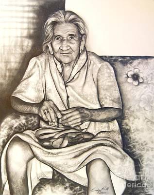 Abuelita Everarda  Poster by Barbara  Rivera