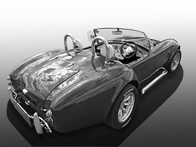 Ac Cobra 1966 In Black And White Poster