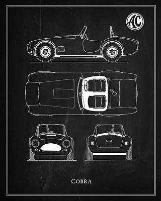 Ac Cobra Poster by Mark Rogan