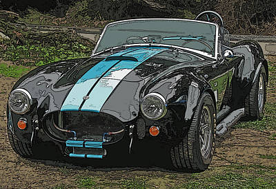 Ac Cobra Poster by Samuel Sheats