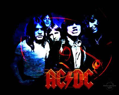 Ac/dc  Poster by Absinthe Art By Michelle LeAnn Scott