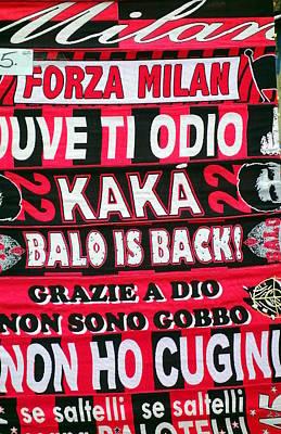 Ac Milan Fans Scarves  Poster