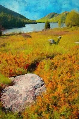 Poster featuring the painting Acadia Spring by Jeff Kolker