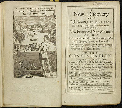 Account Of Discovery In America Poster by British Library
